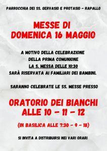 Copy of Messe di domenica 16 maggio